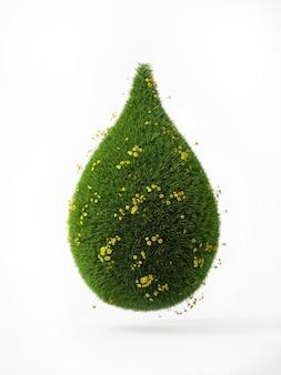 Der grüne tropfen der natur