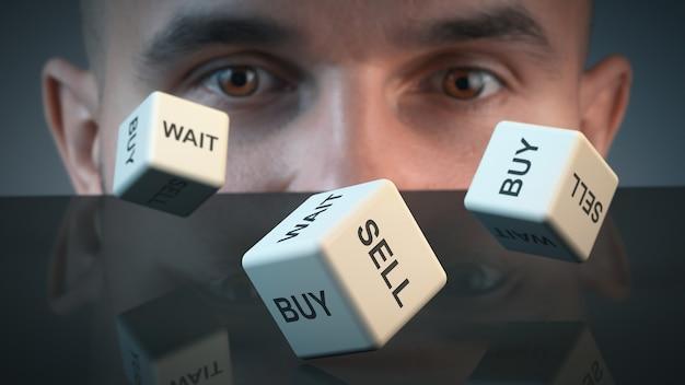 Der händler befindet sich in einem zustand der unsicherheit. finanzielle themen.