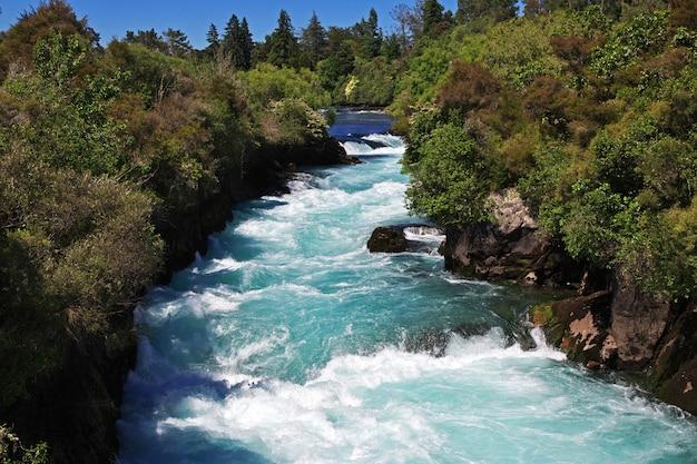 Der huka fällt in neuseeland