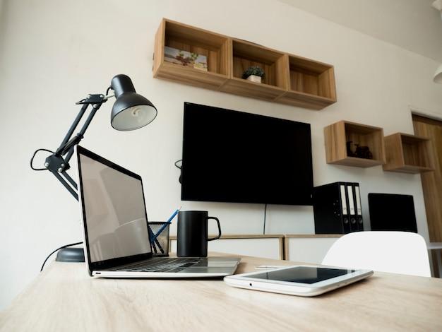 Der innenraum des modernen büros