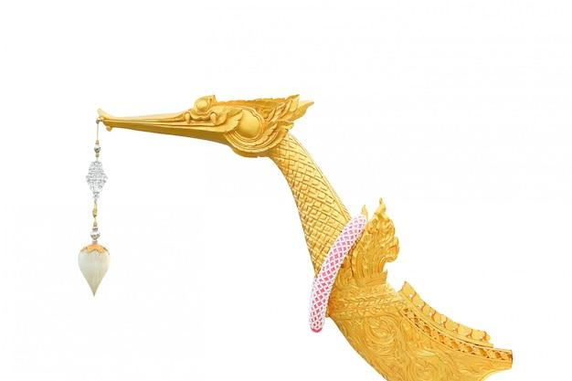 Der königliche lastkahn suphannahong lokalisiert auf weiß