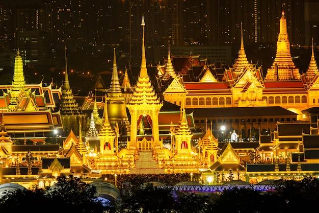 Der königliche scheiterhaufen von könig bhumibol adulyadej in sanam luang, bangkok