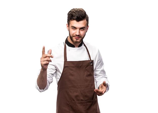 Der küchenchef hat sich etwas interessantes ausgedacht, das gekocht werden kann