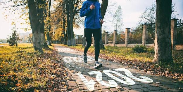 Der läufer läuft von 2020 bis 2021