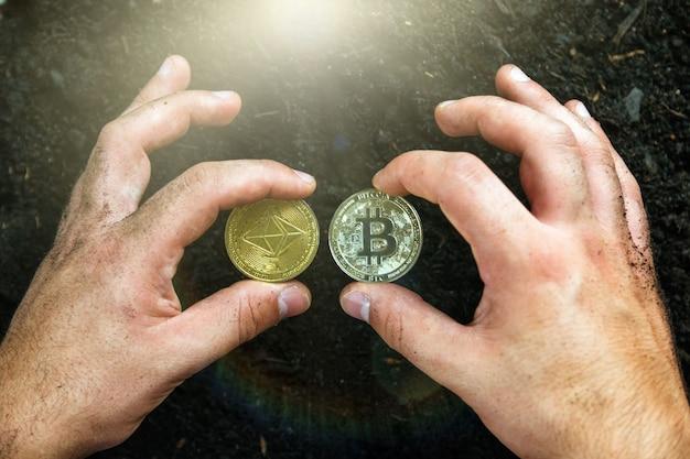Der miner hat bitcoin in seinem besitz.mining for gold bitcoins