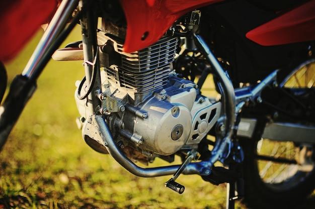 Der motor des motorrades