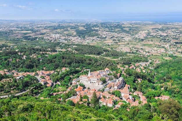 Der nationalpalast von sintra in sintra, portugal
