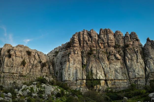 Der naturpark torcal liegt in der nähe von antequera, spanien