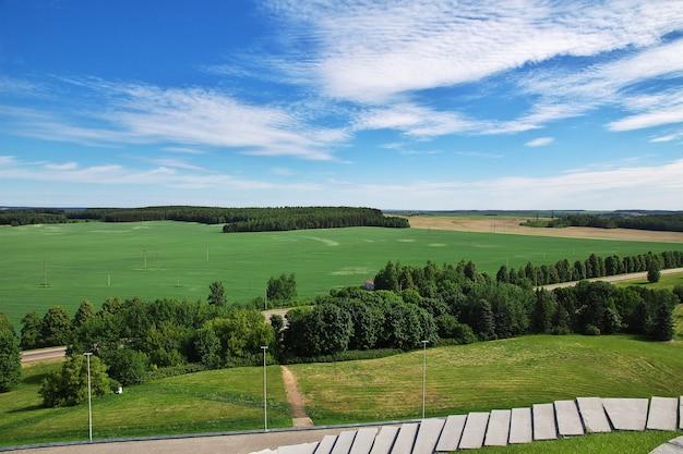 Der panoramablick auf natrure im belarussischen land