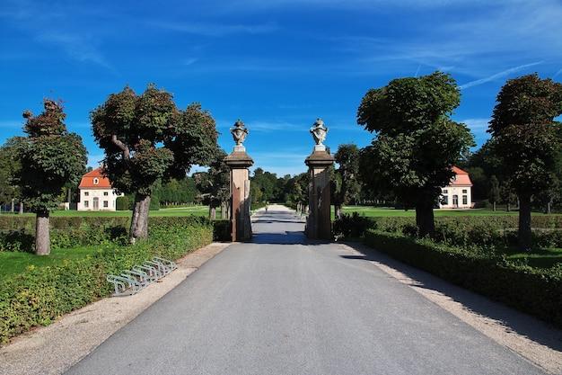 Der park im schloss moritzburg in deutschland, sachsen