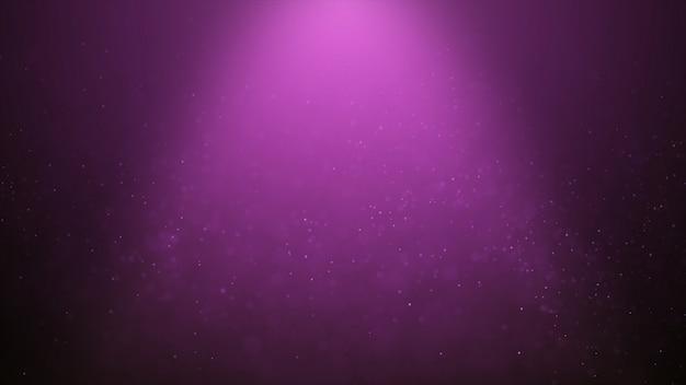 Der populäre abstrakte hintergrund, der rosa staubpartikel glänzt, spielt funken die hauptrolle
