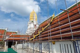 Der Prang Phra Si Rattana Mahathat des Tempels ist eine Pagode des buddhistischen Tempels in Phitsanulok