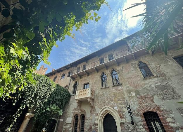 Der romantische balkon von romeo und julia in verona italien shakespeare