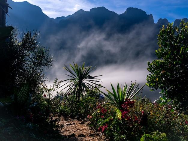 Der schöne naturlandschaftshintergrund