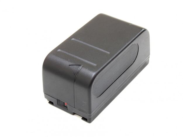 Der schwarze kleine rechteckige akku einer videokamera