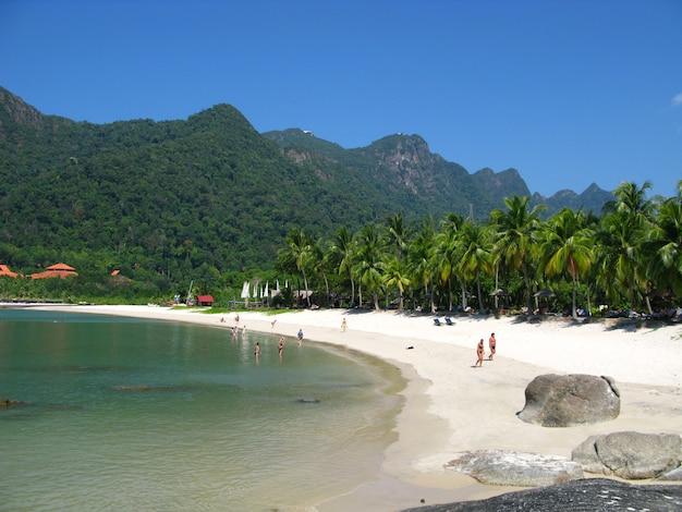 Der strand in langkavi island, malaysia