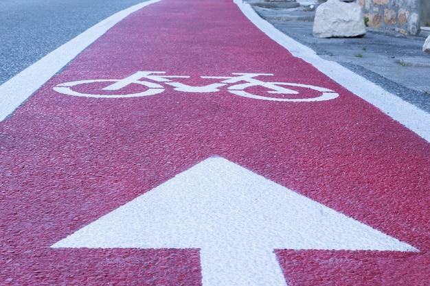 Der tag mit dem fahrrad zur arbeit, radweg