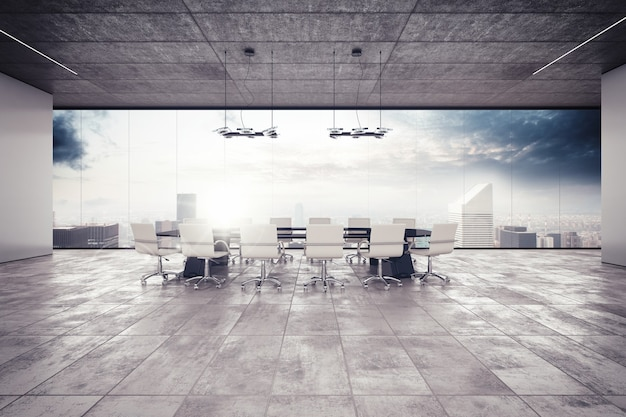 Der tagungsraum in einem luxusgebäude