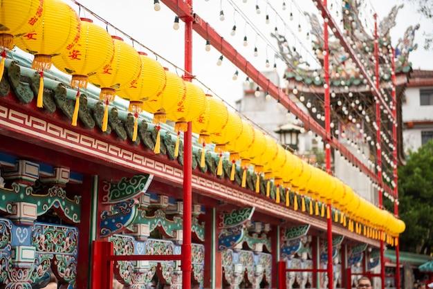 Der tempel von longshan in der innenstadt von taipeh in taiwan
