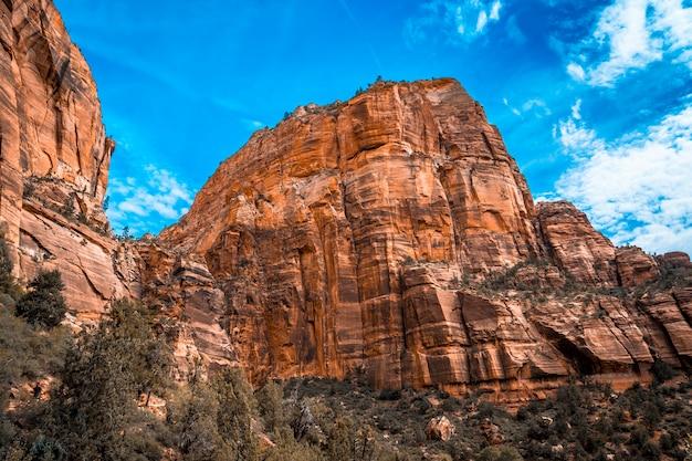 Der trekkingberg des angels landing trail im zion national park