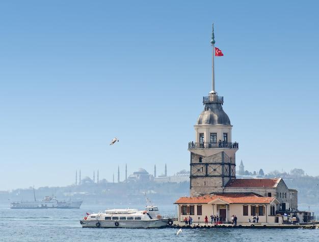 Der turm des mädchens in istanbul, die türkei