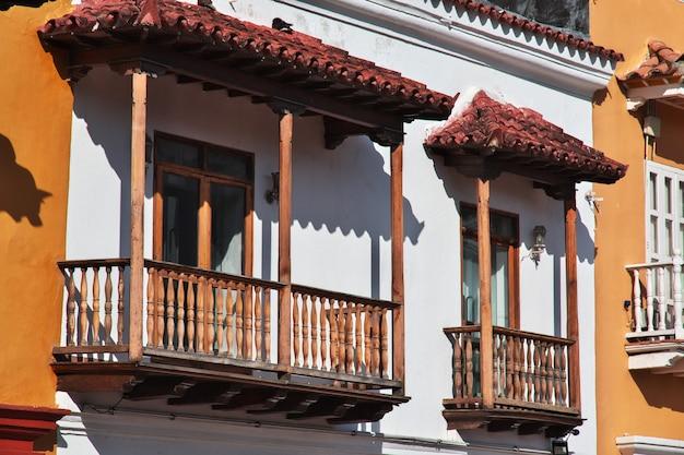 Der vintage balkon in cartagena kolumbien