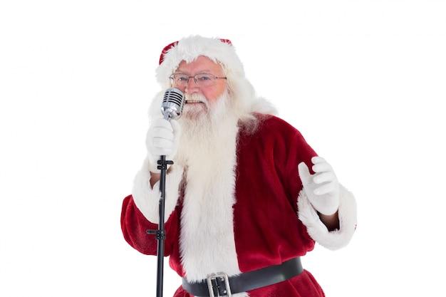 Der weihnachtsmann singt weihnachtslieder