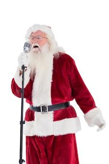 Der weihnachtsmann singt wie ein superstar