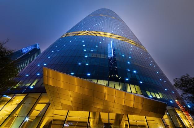 Der wolkenkratzer ist in guangzhou, china