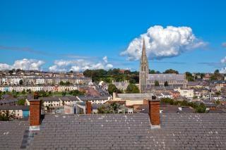 Derry stadtbild hdr kathedrale