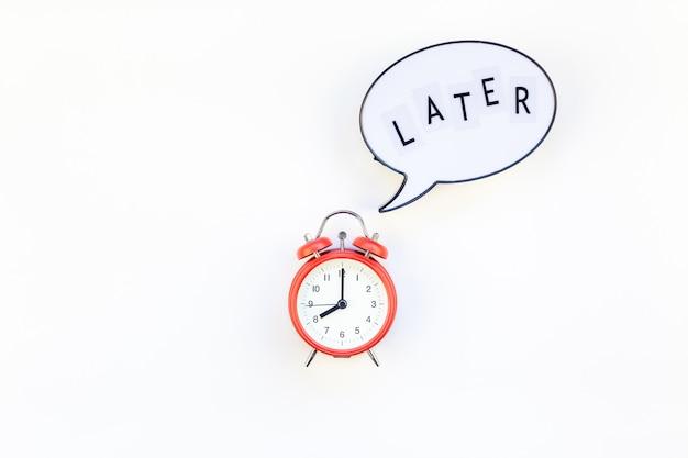Des aufschubs und des zeitmanagements