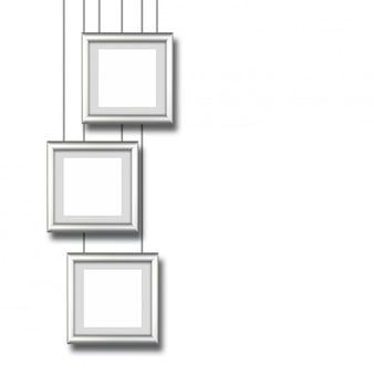 Design-aluminiumrahmen auf weißem hintergrund