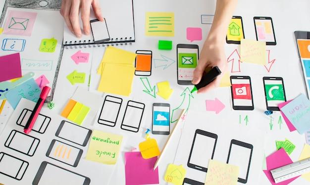 Design-anwendung für mobiltelefone.