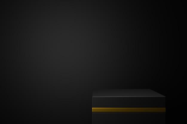 Design der produktpräsentation. 3d-rendering.