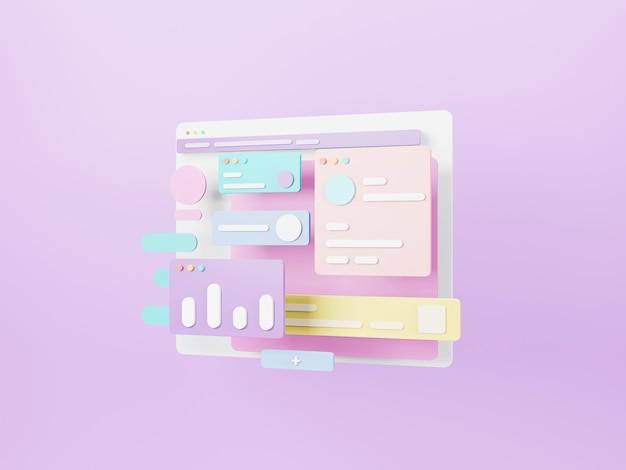 Design der webseitenschnittstelle