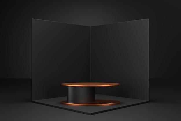 Design des ausstellungsstandes. 3d-produktdarstellung. 3d-rendering.