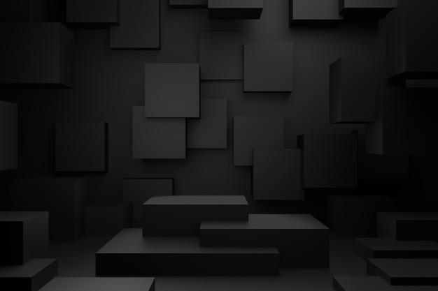 Design des displayständers. 3d-rendering.