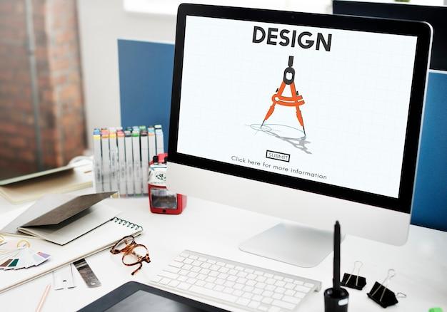 Design kompass architektur engineering technologiekonzept
