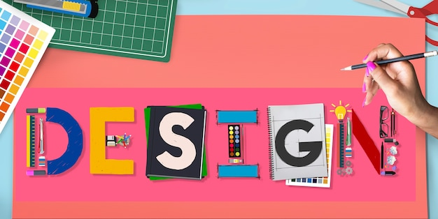 Design kreative inspiration art style concept Kostenlose Fotos