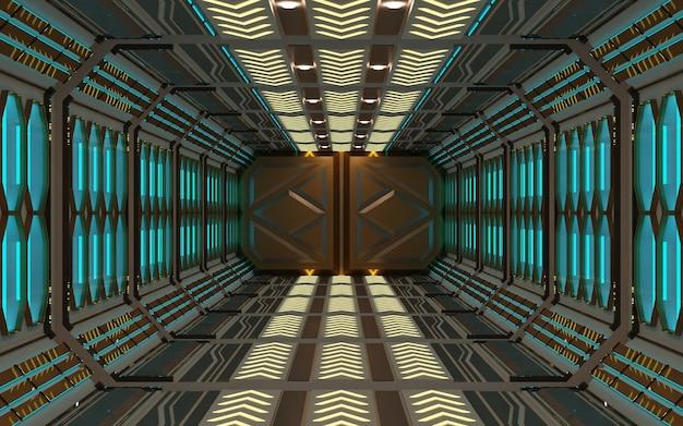 Design moderne futuristische raum-science-fiction-hintergrundwiedergabe