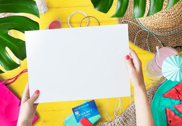 Design-raum für sommerferien hintergrund