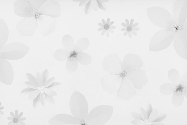 Design-ressource für grauen blumenhintergrund