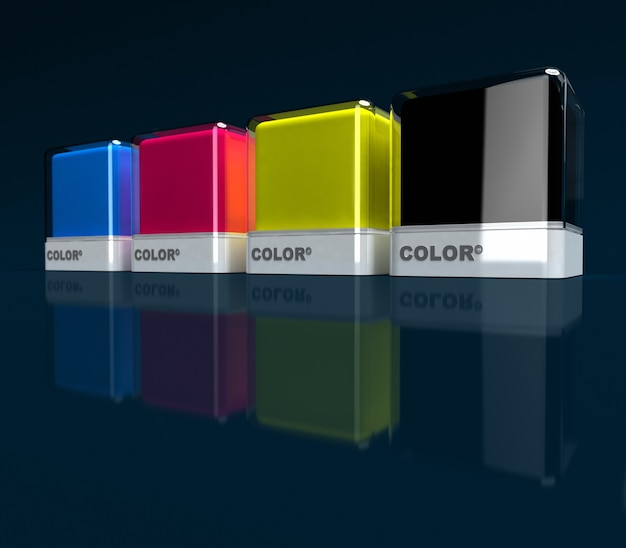 Designblöcke in primärfarben