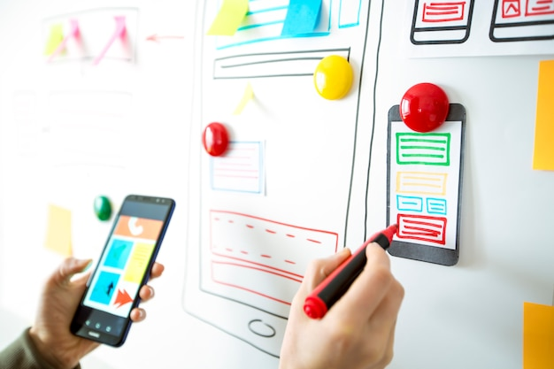 Designer-anwendung für mobiltelefone.