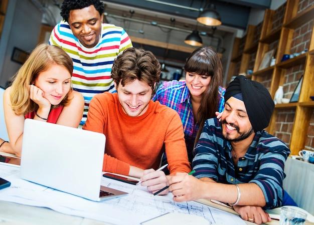 Designer teamwork brainstorming planung interieur konzept