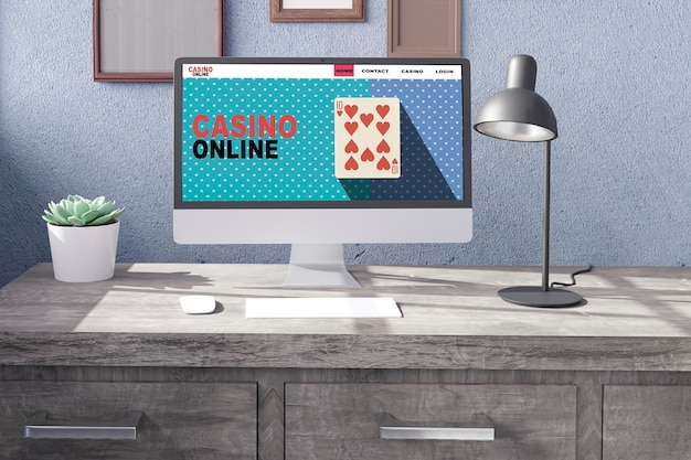Desktop-computer mit casino online wallpaper