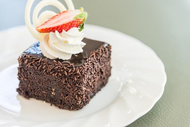 Dessert schokoladenkuchen