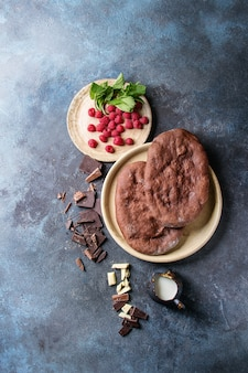 Dessertschokoladenpizza