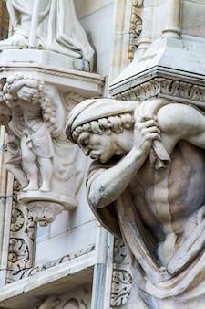 Detail auf mailänder dom, italien