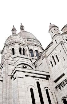 Detail der basilika des heiligen herzens von paris, allgemein bekannt als sacré-céur-basilika, gewidmet dem heiligen herzen jesu, in paris, frankreich
